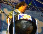 Bravo playing the steel pan